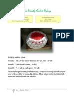 Eco Friendly Crochet Sponge