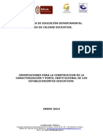 Formato Orientaciones Caracterizacion y Perfil Institucional