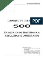 500 Questões Matemática - Professor Joselias