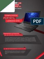 Ficha Tecnica Lenovo e49
