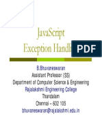 JavaScript - Exception Handling