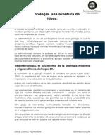 Sedimentologia Una Aventura de Ideas