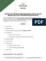 Board Meeting Agenda_03.01.10
