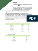 Uso de fuentes primarias de energía para la generación eléctrica en México