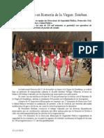 12.12.2013 Comunciado Saldo Blanco en Romería de La Virgen Esteban