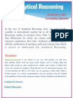 Analytical Reasioning Book Questions With Complete Solutions