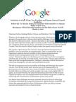 Google Testimony to Senate Judiciary Committee