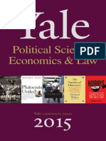 Yale University Press Political Science, Economics, & Law 2015 Catalog