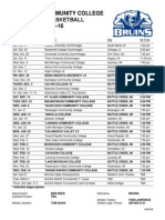 Kellogg Community College's 2015-16 Men's Basketball Schedule