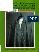 Classic Tailoring Techniques-A Construction Guide for Men - Roberto Caberera and Patricia Flaherty Meyers