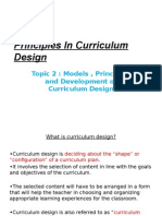 Principles in Curriculum Design