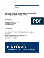 Implementation of the 2002 AASHTO Design Guide