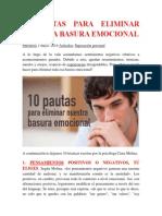 10 Pautas Para Eliminar Nuestra Basura Emocional 4p