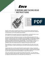 ENCO Automatic Boring And Facing Head