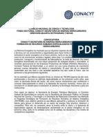 Convocatoria CONACYT-SENER Hidrocarburos 2015 -1