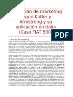 Projecto de marketing sobre el FIAT 500