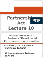 Lecture 10. Partnership Act