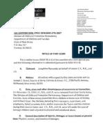 DYFS Tort Notices 2015