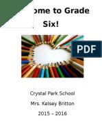 kb welcome to grade 6 handbook