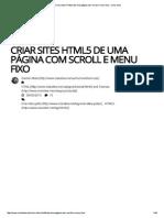 Criar Sites HTML5 de Uma...Menu Fixo - Criar Sites