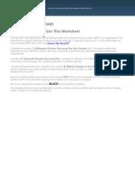 DRP Test Worksheet