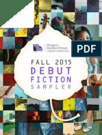 Fall 2015 Debut Fiction Sampler