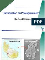 Introduction on Photogrammetry by Koert Sijmons