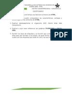 Cuestionario No 1 HTML