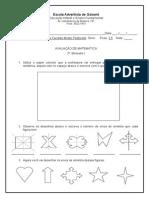 Avaliação de Matemática i 3a.