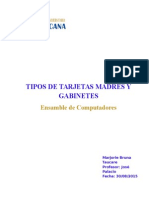 Tipos de Tarjetas Madres Gabinetes- Marjorie Bruna