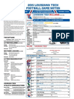LA Tech game notes for Southern