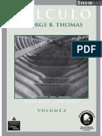 Cálculo - Volume 2 - 11ª Edição - George B. Thomas