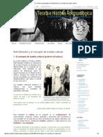 Teoría e Historia Antropológica_ Ruth Benedict y El Concepto de Modelo Cultural