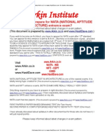 ARKIN NATA exam study guide,CEPT Ahmedabad entrance exam,CEPT admission 2012,NATA syllabus 2012 - 2013 FORWARD THIS DOCUMENT TO ALL YOUR FRIENDS