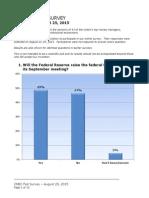 CNBC Fed Survey, Aug 25, 2015