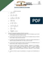 Ecuaciones 2do de Sec.