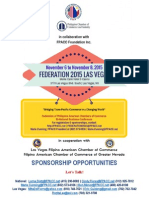FPACC Sponsorship Packet for Federation 2015 Las Vegas