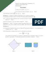 Examen - Cálculo I (2012)