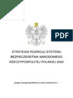 Strategia Rozwoju Systemu Bezpieczeństwa Narodowego RP 2022 (2013)