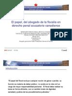 El Papel Del Abogado de La Fiscalia en Derecho Penal Acusatorio Canadiense