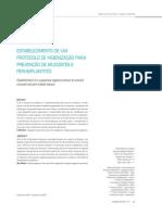 Estabelecimento de Um Protocolo Para Prevenção de Mucisites e Peri-implantites