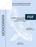 Geodinamica, Sismicidad y Energia en Peru