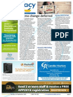 Pharmacy Daily for Tue 01 Sep 2015 - Chemo change deferred, Arrow resurrected, Pharmacy dementia support, Health AMPERSAND Beauty and much  more