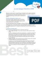 How salesforce.com manages Salesforce CRM