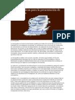 Normas Básicas Para La Presentación de Monografías