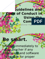Guidelines in Using the ICT Room