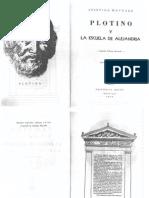 Plotino y La Escuela de Alejandria