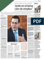 Entrevista al ministro de Trabajo de Honduras | El Peruano