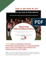 Convocatoria Asesoras Frida 2015