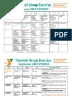 September 2015 Tazewell Group Exercise